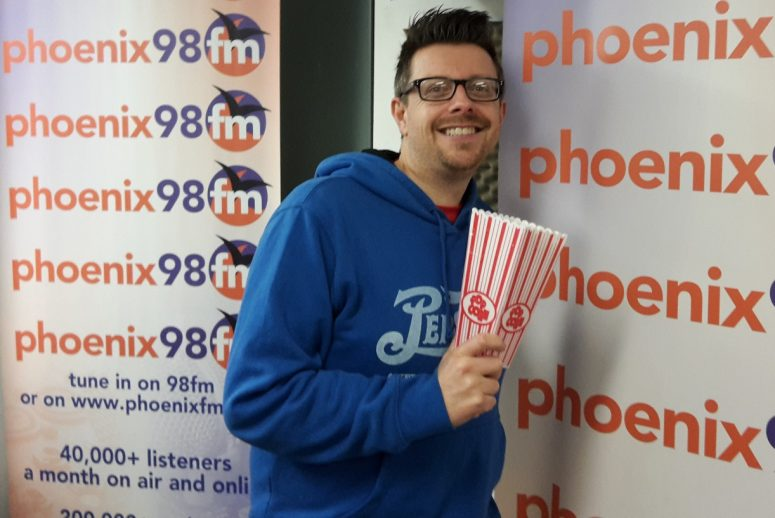 Mark Searby and popcorn