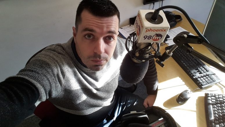 Charlie Davy Phoenix FM Studio Selfie