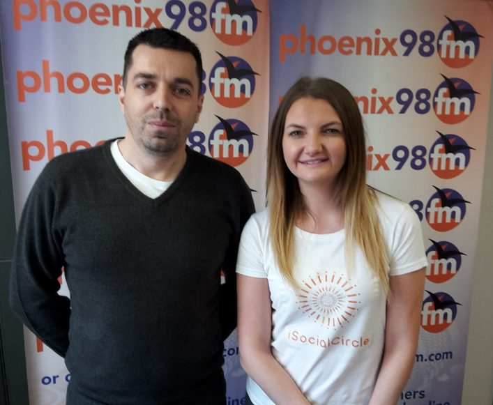Charlie and Gemma from iSocialCircle in the Studio