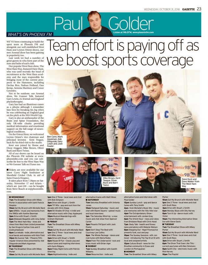 Team effort is paying off as we boost sports coverage