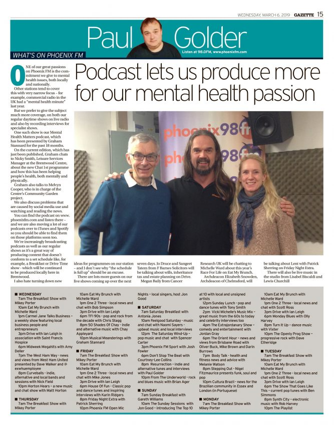 Good News About Mental Health In Our >> Podcast Lets Us Produce More For Our Mental Health Passion Phoenix Fm